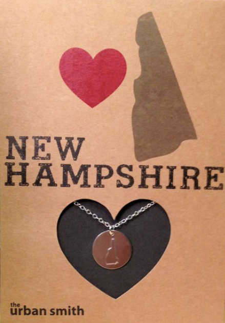 New Hampshire Disc Necklace: Sterling Silver