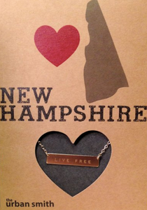 New Hampshire Bar Necklace: Sterling Silver