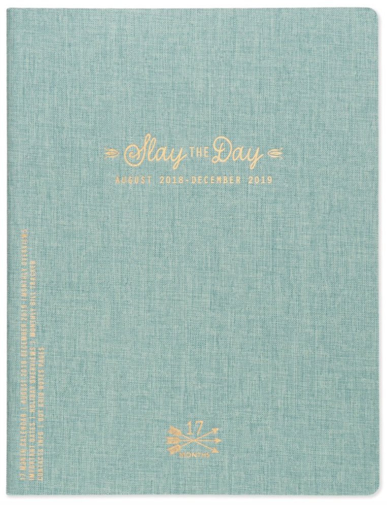 "Simple Cloth Calendar ""SLAY THE DAY"""
