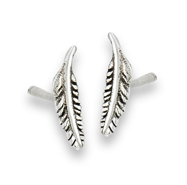 Small Feather Stud Earring: B1