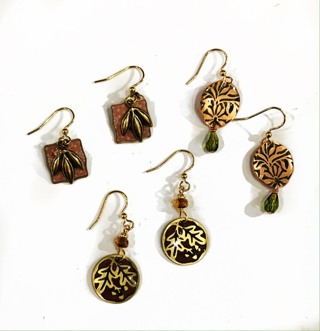 ED Brass Earring Collection