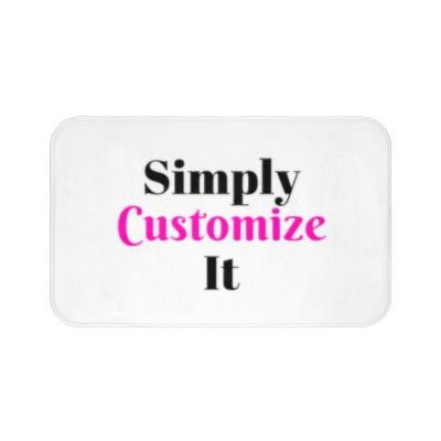 custom bath mat by simply customize it