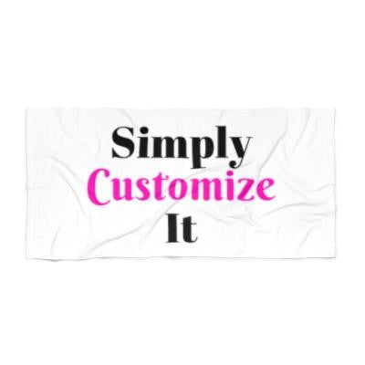 custom bath towel by simply customize it