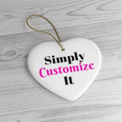 custom ceramic ornaments by simply customize it