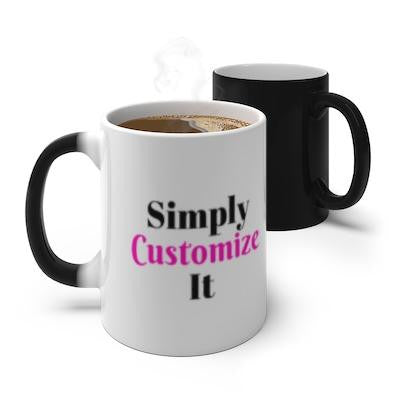 custom color changing mug by simply customize it