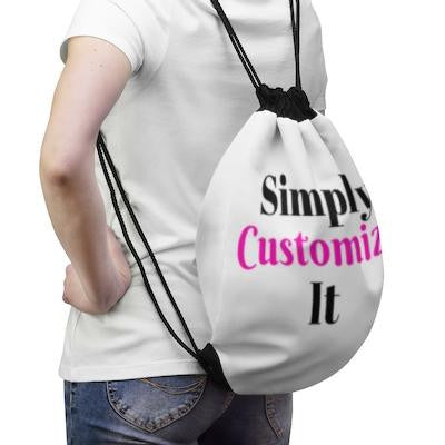 custom drawstring bag by simply customize it