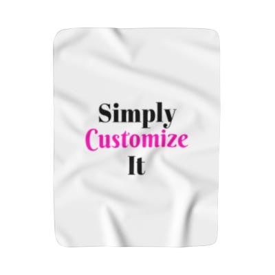 custom fleece blanket by simply customize it