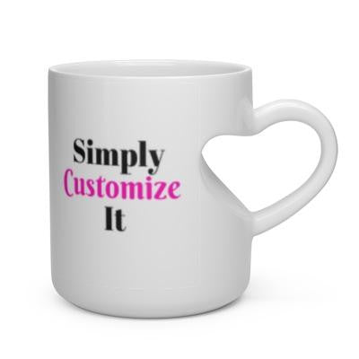 custom heart mug by simply customize it