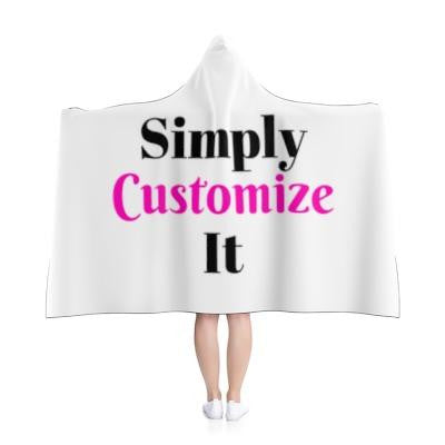 custom hooded blanket by simply customize it
