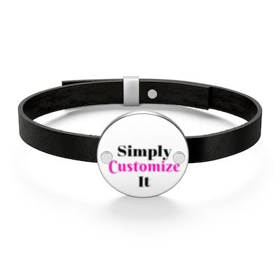 custom leather bracelet by simply customize it