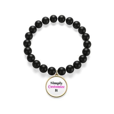 custom onyx bracelet by simply customize it