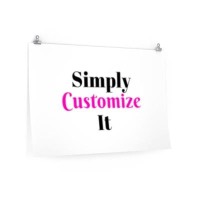 custom matte posters by simply customize it
