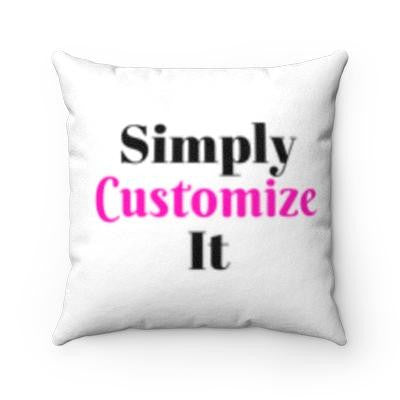 custom faux suede pillow case by simply customize it