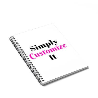 custom spiral notebook by simply customize it