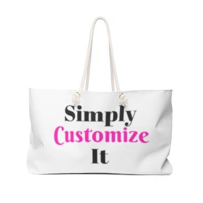 custom weekend bag by simply customize it