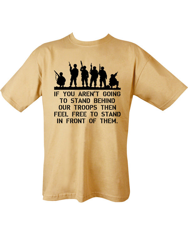 Behind Troops T-shirt - Sand - CoreDog Airsoft