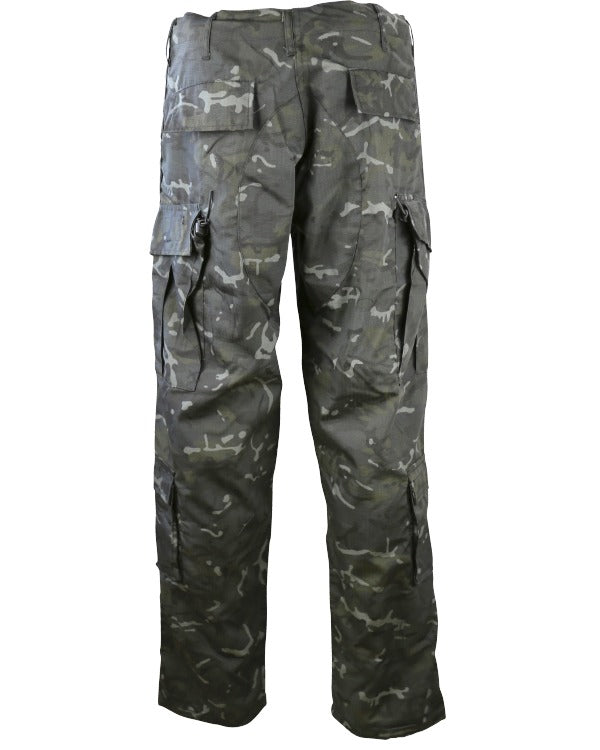 Assault Trousers - ACU Style - BTP Black - CoreDog Airsoft