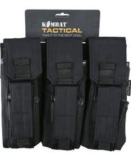 Triple Mag Pouch with PISTOL Mag - Black
