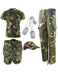 .Kids Camouflage Explorer Army Kit - DPM