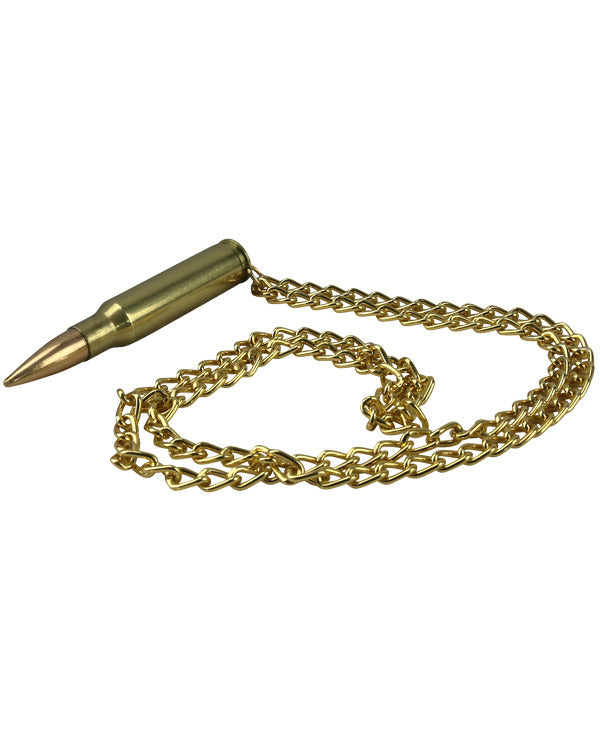 7.62 Chain Necklace - Brass - CoreDog Airsoft
