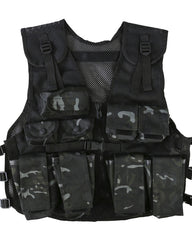 .Kids Assault Vest & Helmet Set - BTP Black - CoreDog Airsoft