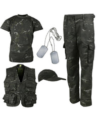 .Kids Camouflage Explorer Army Kit - BTP Black