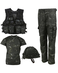 .Kids Number 1 Army Combo Set - BTP Black