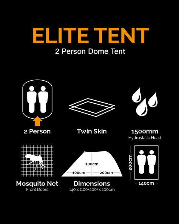 Elite Tent - BTP (2 Person, Twin Skin) - CoreDog Airsoft
