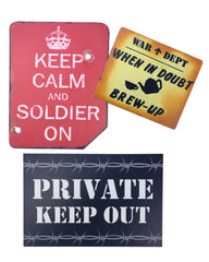 Wooden Army Mancave/Shed Sign Set