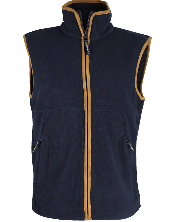 Country Fleece Gilet - Navy Blue - CoreDog Airsoft