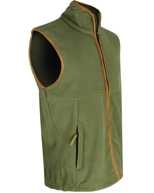 Country Fleece Gilet - Country Green - CoreDog Airsoft