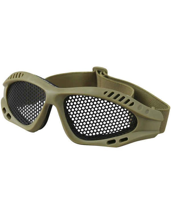 Tactical Mesh Glasses - Coyote - CoreDog Airsoft