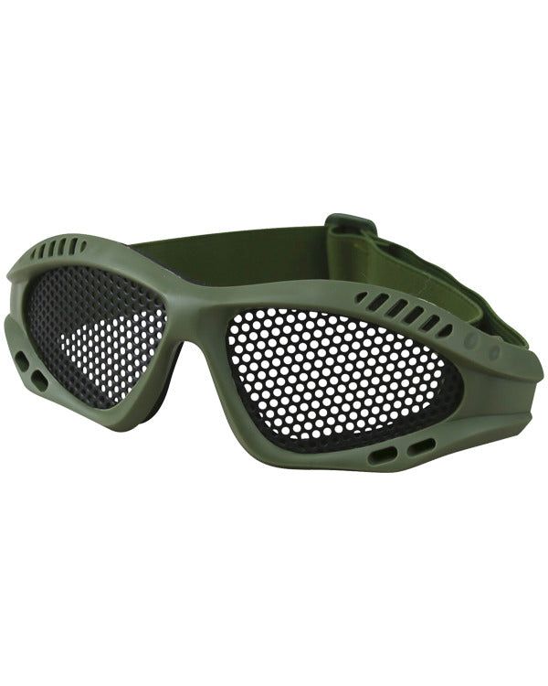 Tactical Mesh Glasses - Olive Green - CoreDog Airsoft