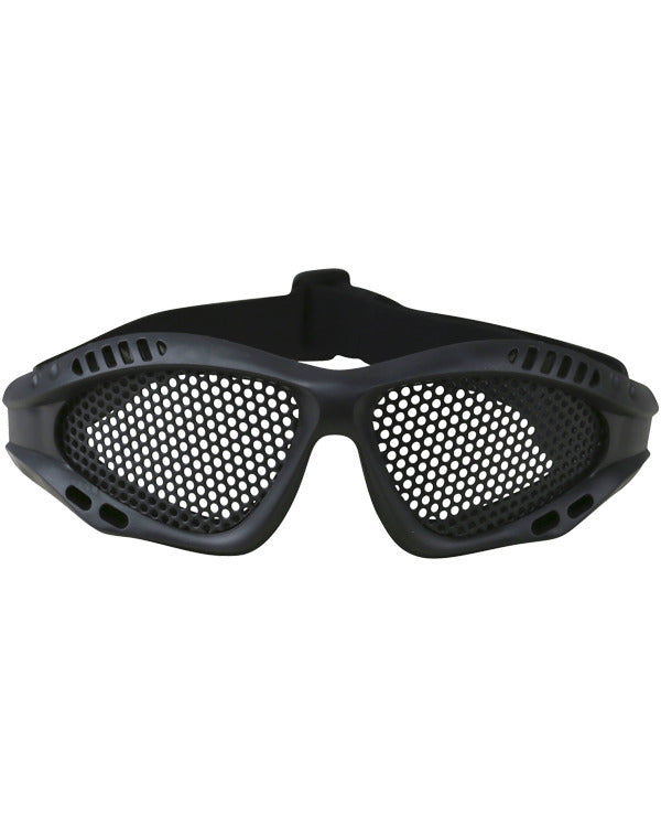 Tactical Mesh Glasses - Black - CoreDog Airsoft