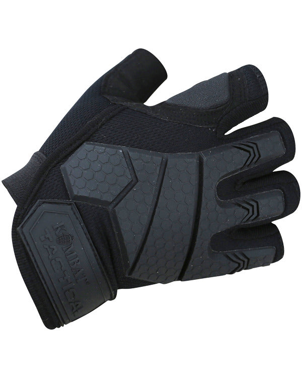 Alpha Fingerless Tactical Gloves - Black - CoreDog Airsoft