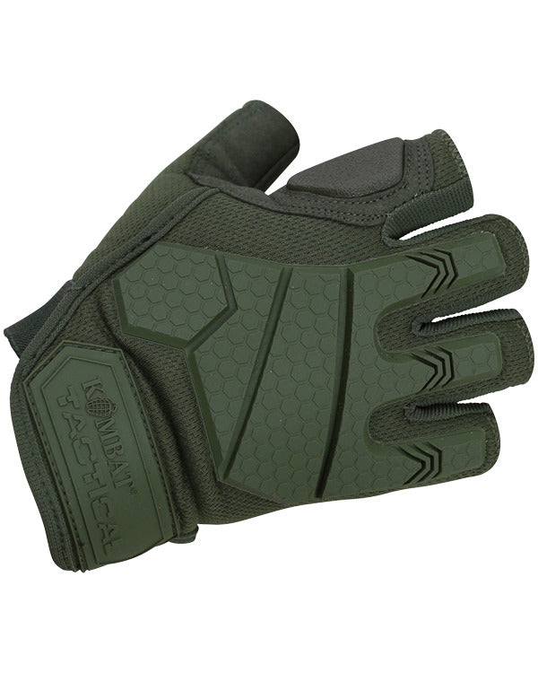 Alpha Fingerless Tactical Gloves - Olive Green - CoreDog Airsoft