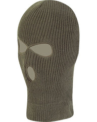 3 Hole Balaclava - Olive Green (12 Pack)