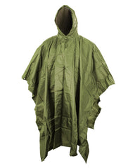 US Style Poncho - Olive Green