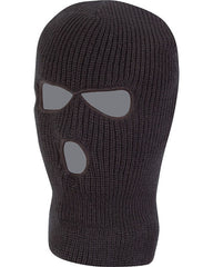 3 Hole Balaclava - Black