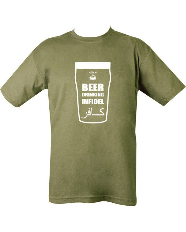 Beer (Infidel) T-shirt - Olive Green - CoreDog Airsoft