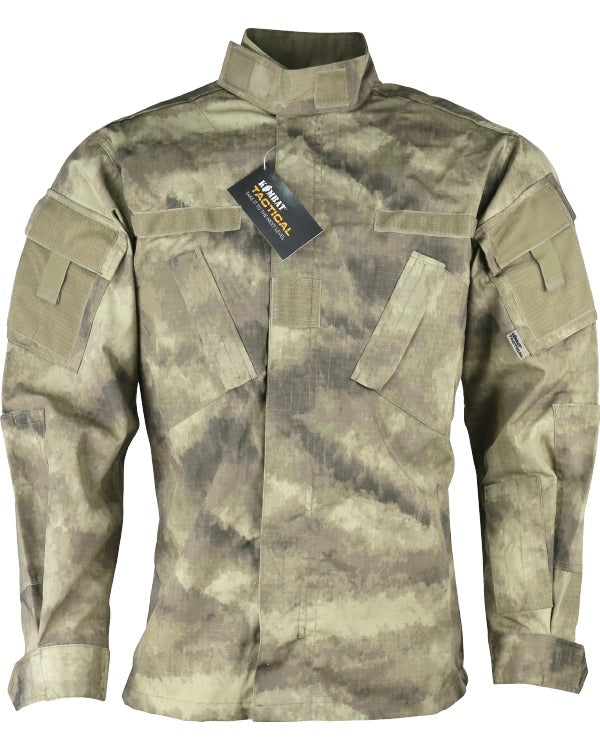 Assault Shirt  - ACU Style - Smudge Kam - CoreDog Airsoft