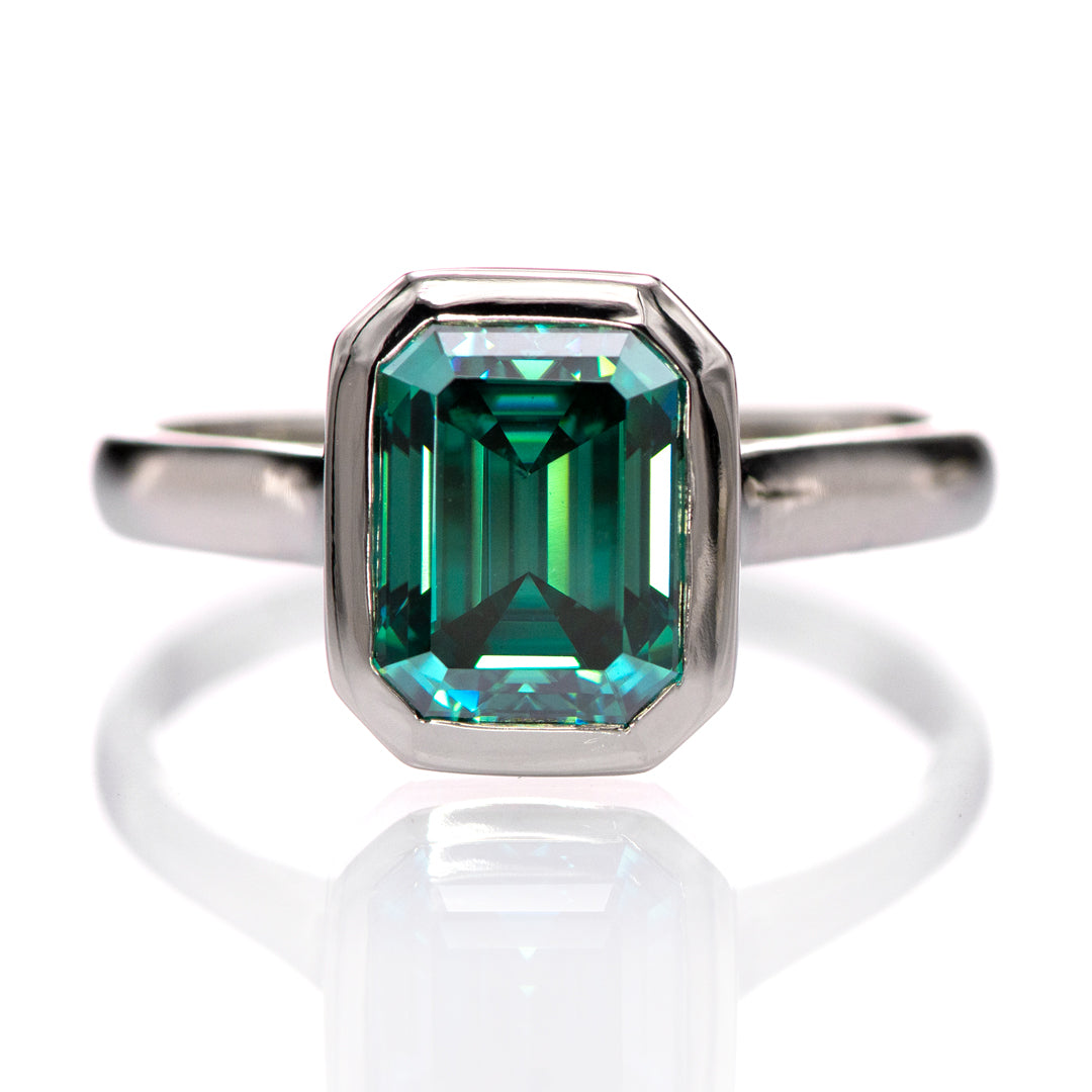 Celebrate St. Patricks Day with green moissanites