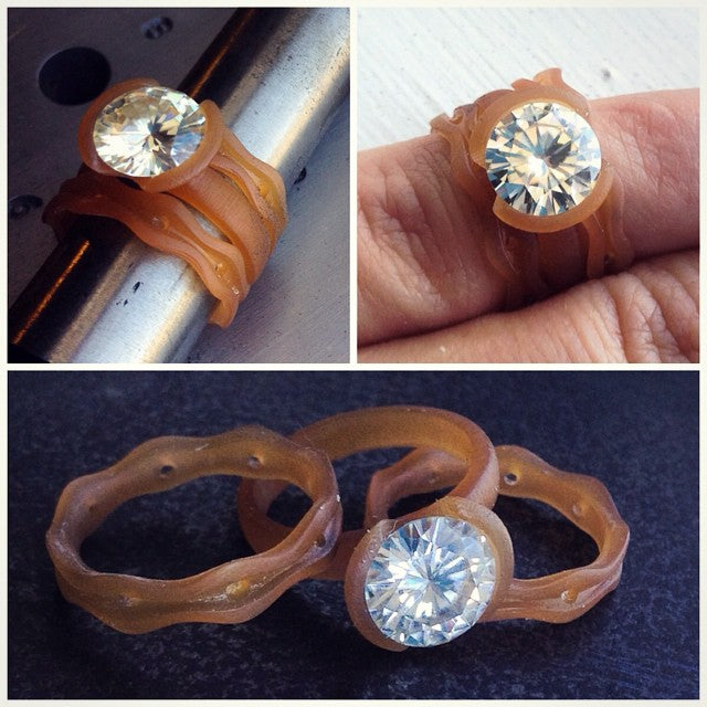 wax models for moissanite ring set