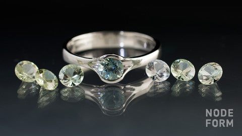 new Montana sapphires in green pastel shades