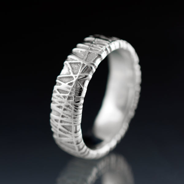 wide woven texture bird nest ring