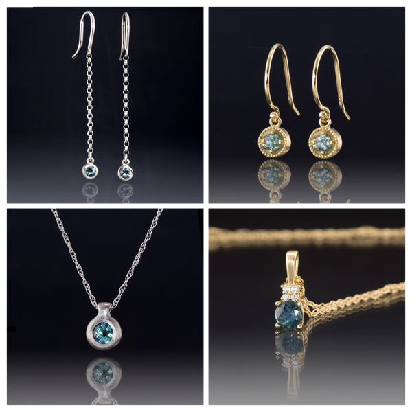 new Montana sapphire jewelry , earrings and necklaces