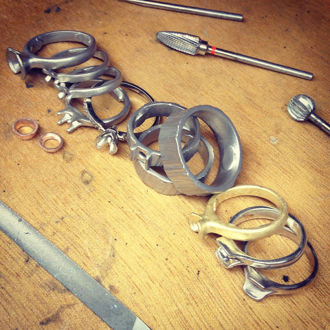 rough ring castings to be cleaned up