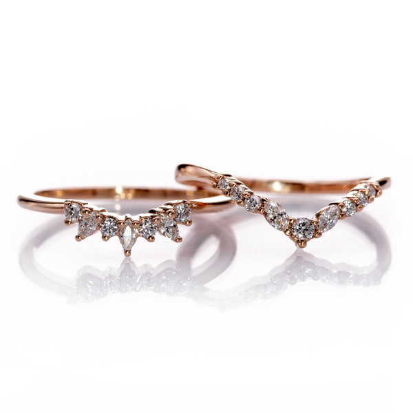 Vanessa and Camilla curved bands