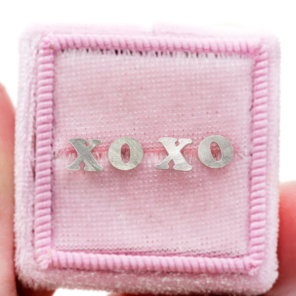 xo silver studs for your Bestie and you