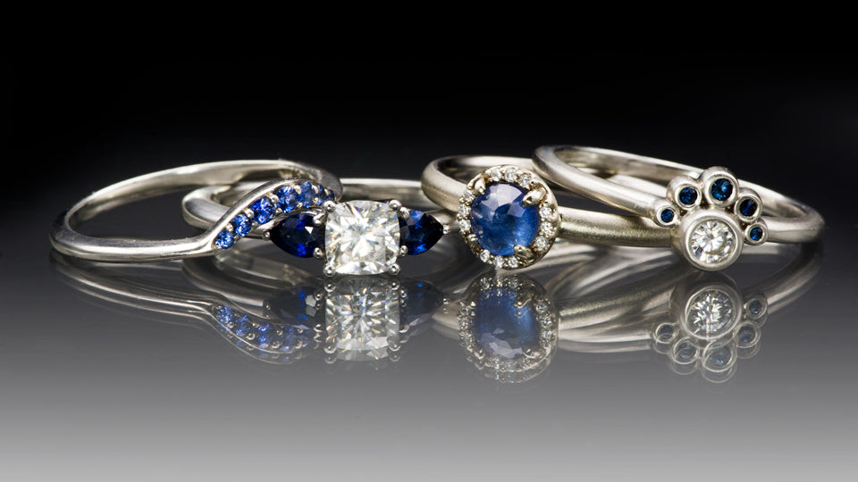 Blue-sapphire ring designs by Nodeform